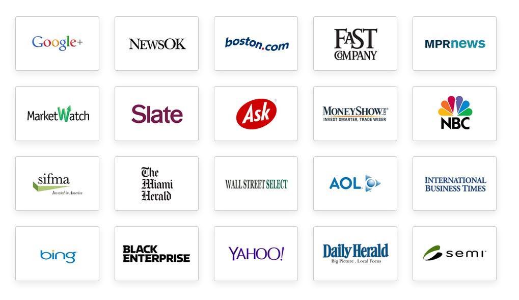 A few of SeoSamba's PR distribution partners