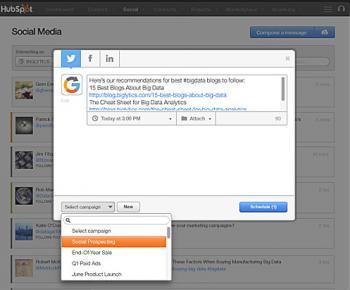 Hubspot Social Media Tools