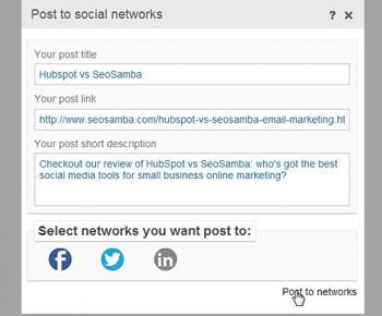 SeoSamba Social Media Tools