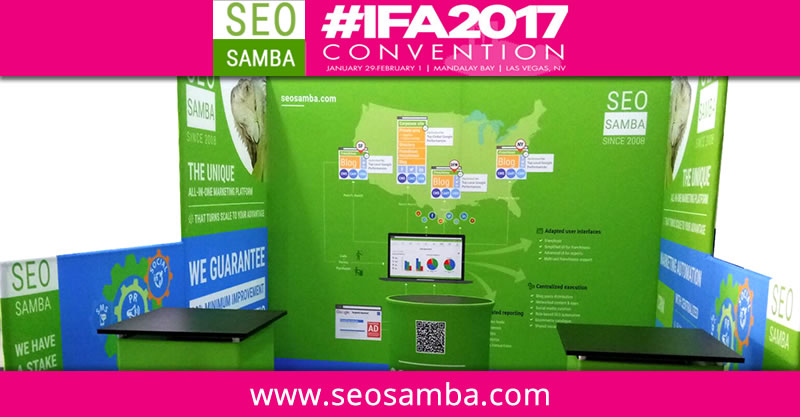 Franchise Marketing Software SeoSamba to Exhibit at International Franchise Association Show #IFA2017 in Las Vegas