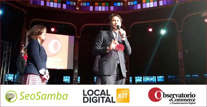 """Le 1er Groupe De Presse Quotidienne Régionale d'Espagne & la Plateforme De Marketing Automatisé SeoSamba Nommés """"Meilleur Projet De Transformation Digitale 2016"""" Avec Local Digital Kit"""